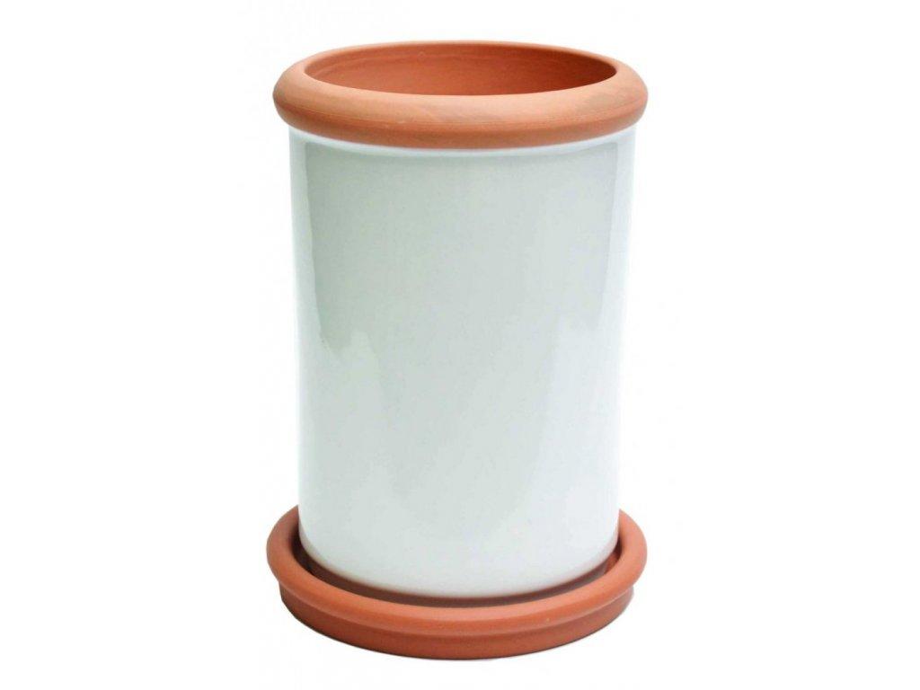 Chladič na víno, keramika, glazura, s podložkou