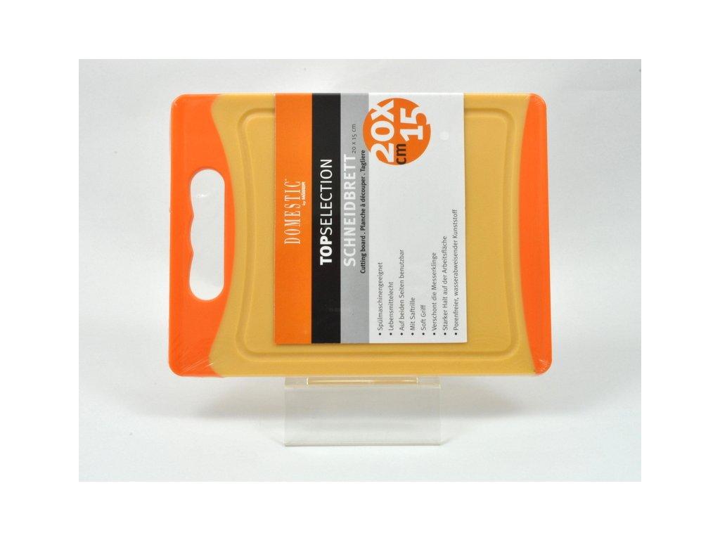 TELESTO Krájecí deska oranžová 20 x 15 cm