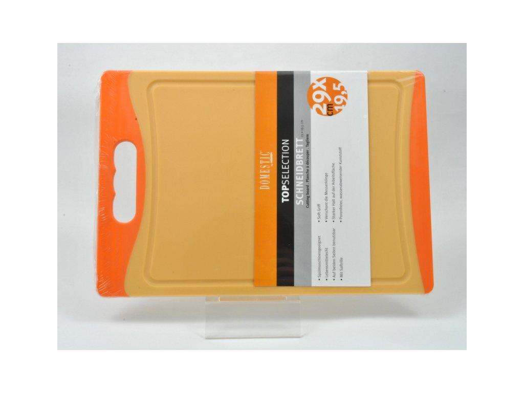 TELESTO Krájecí deska oranžová 29 x 19.5 cm