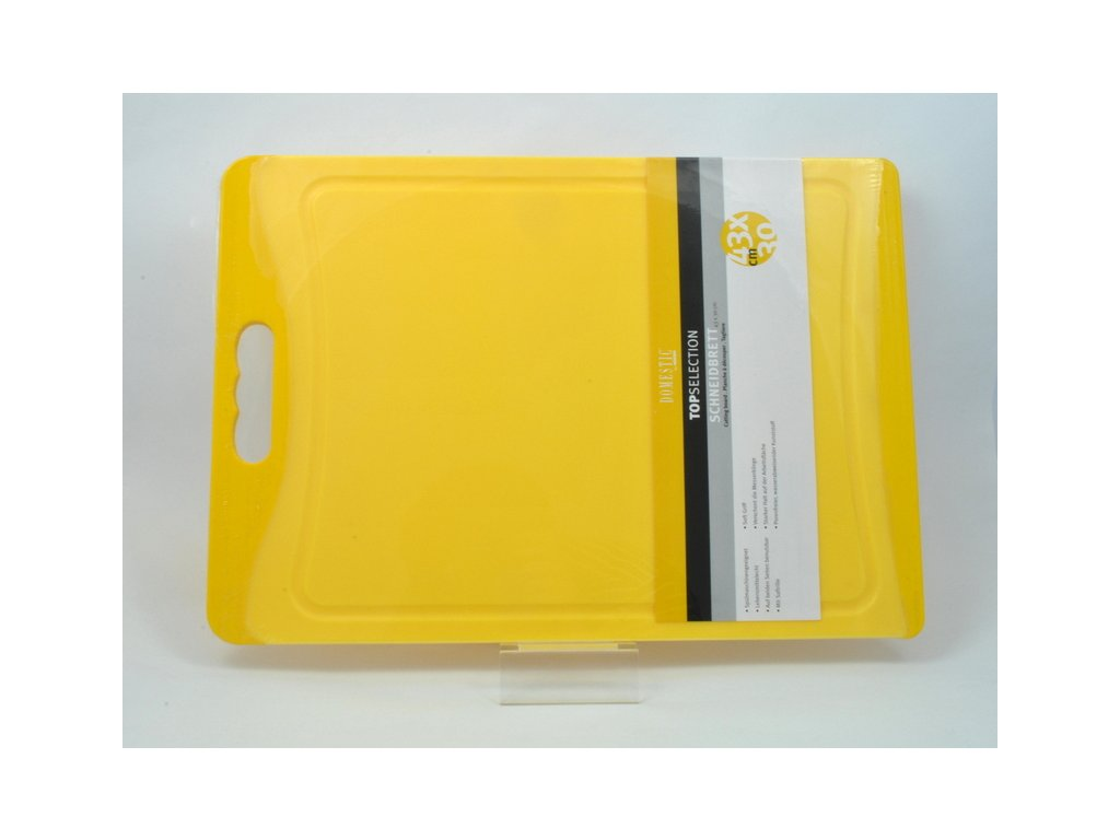 TELESTO Krájecí deska žlutá 43 x 30 cm