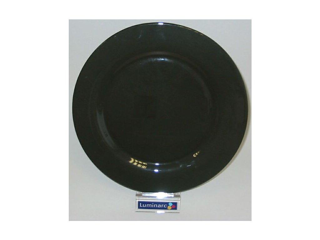 LIQUORICE Plato kulaté 31 cm černé