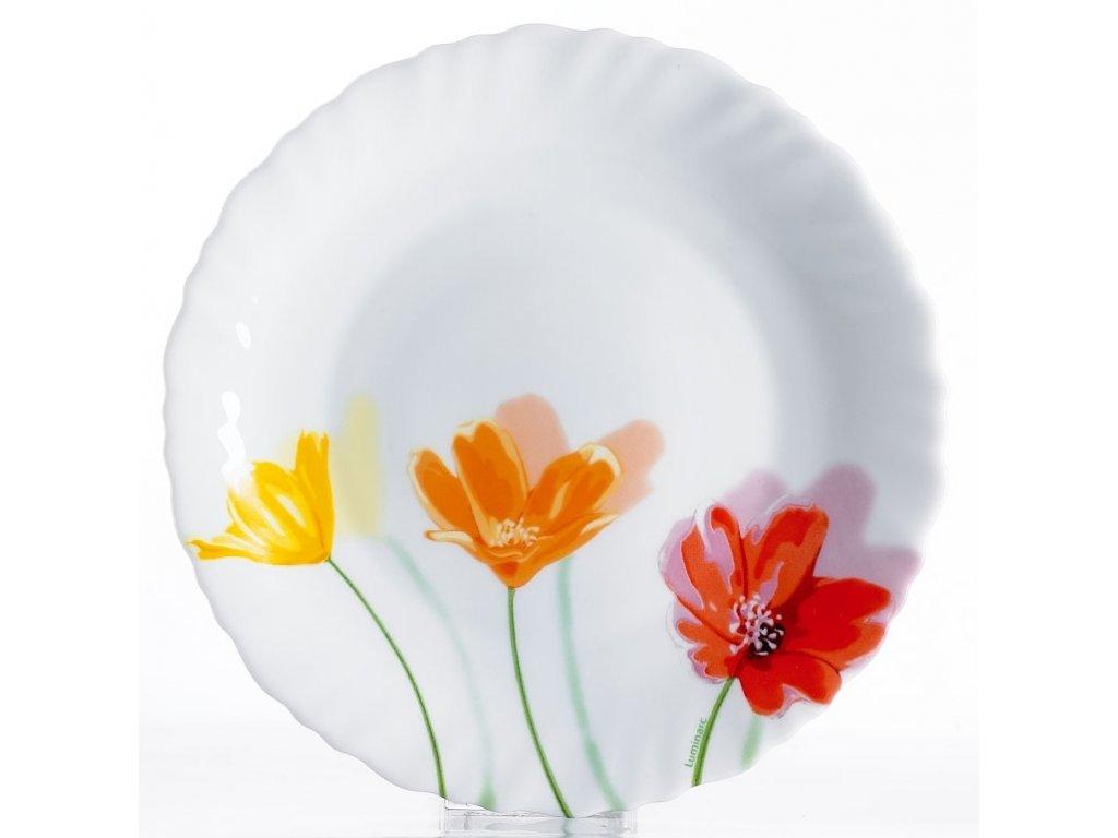 FLOWERLY Talíř hluboký 21 cm dekor