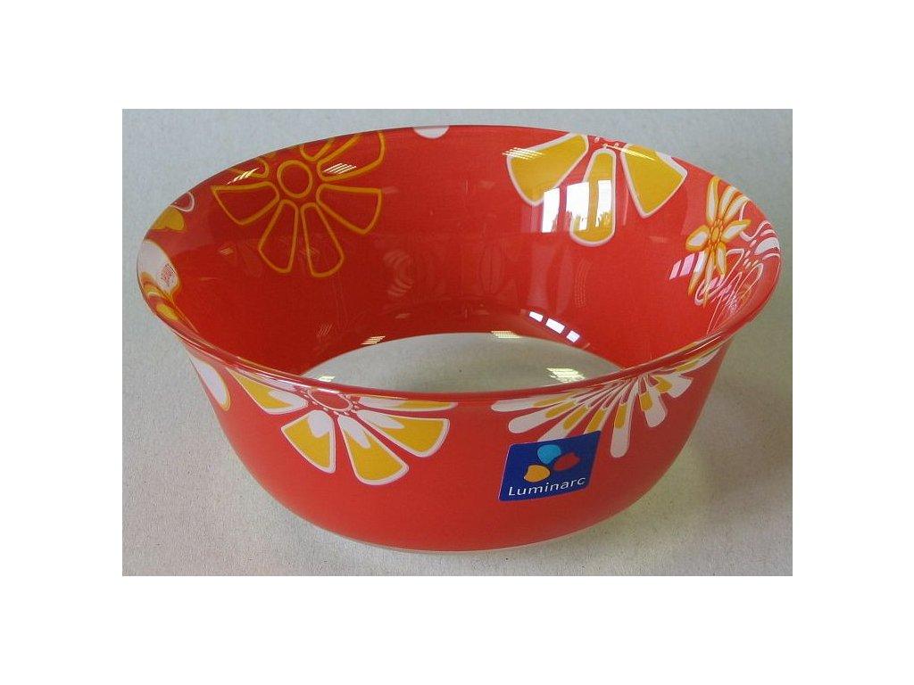GRAPHIC FLOWERS RED Miska 12 cm dekor