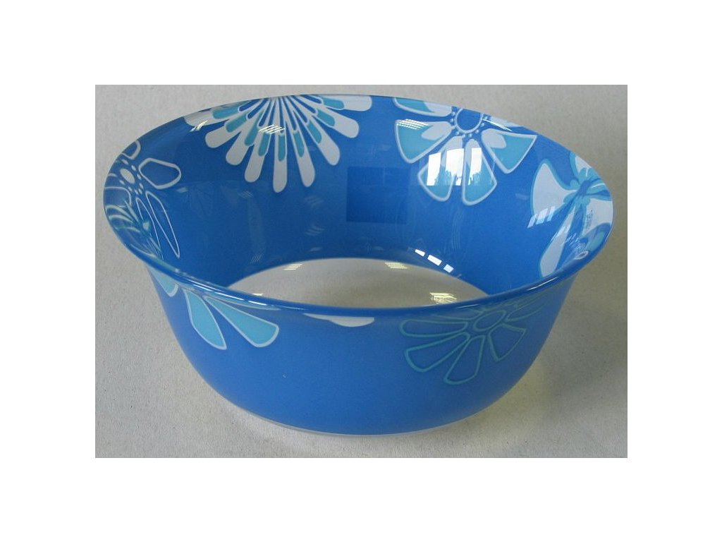 GRAPHIC FLOWERS BLUE Miska 12 cm dekor