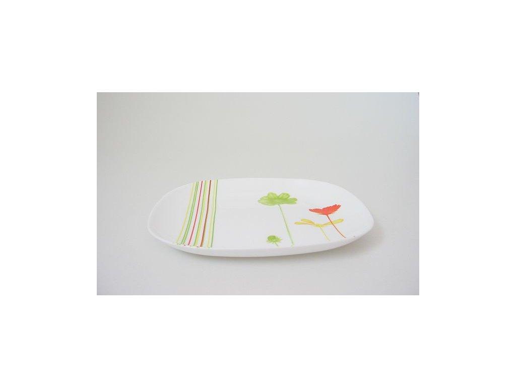ESCANTA Talíř desertní 21.5x19 cm dekor