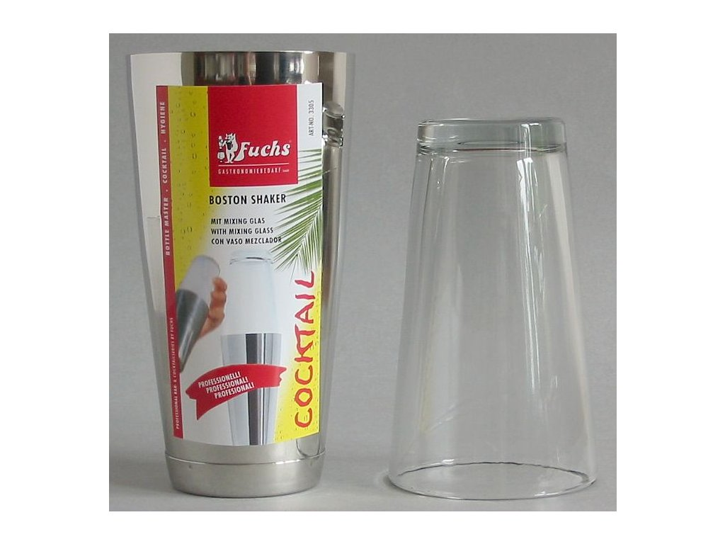 COCKTAIL BOSTON SHAKER-nerez+sklo 800 ml