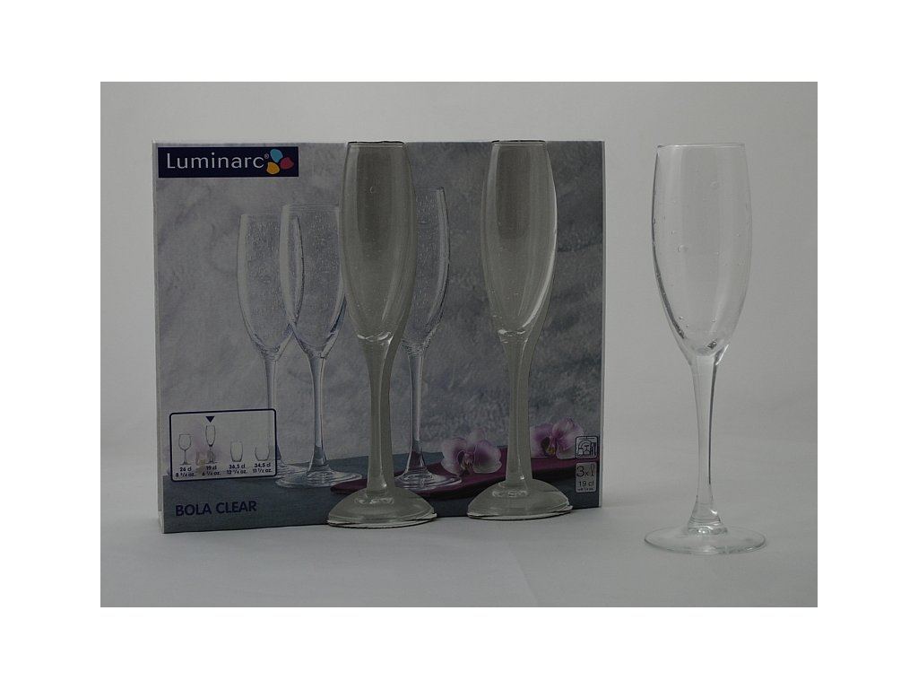 BOLA Flétna šampaň 19 cl čirá
