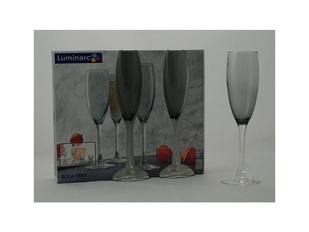 BOLA Flétna šampaň 19 cl šedá
