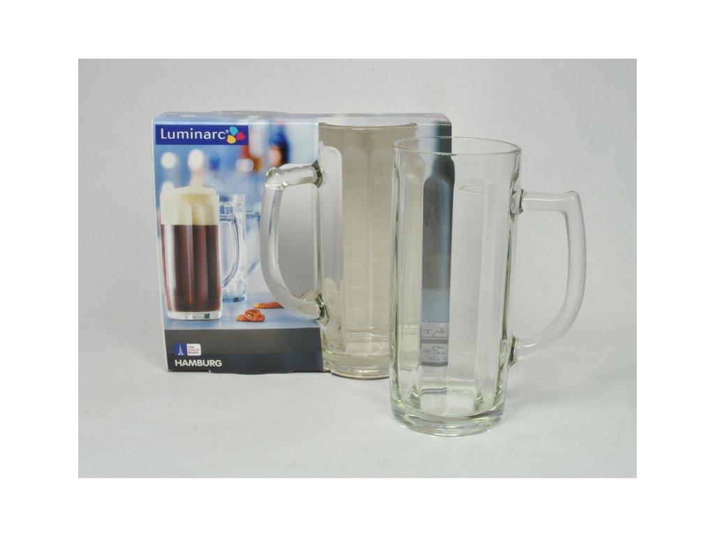 HAMBURG pivní sklo čiré 55 cl po okraj