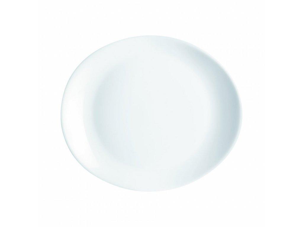 FRIENDS´TIME talíř steak ovál bílý 30x26 cm