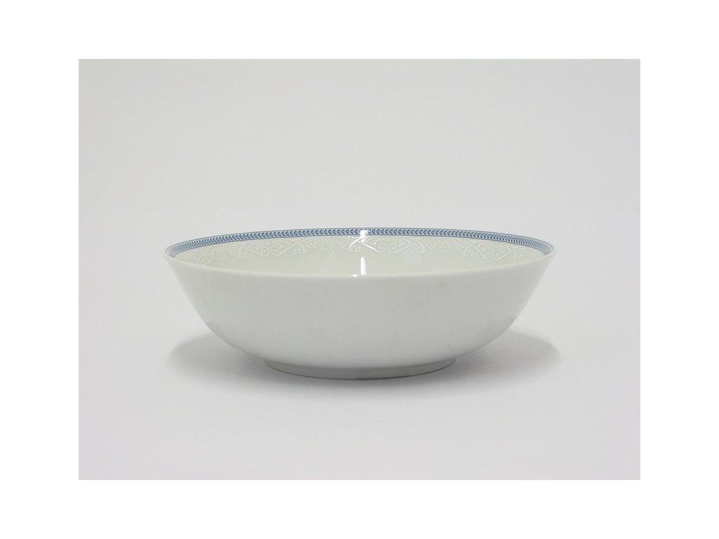 JANA Mísa 19 cm dekor 8013601 modrobílý