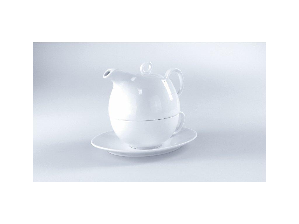 TEA FOR ONE Konvička 55cl s šálkem 35cl a podšálke