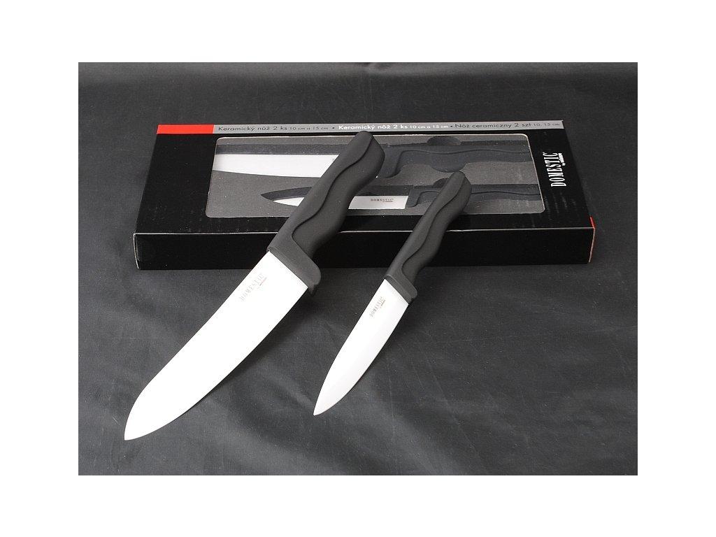 DOMESTIC Souprava keramických nožů 2 ks čepel 10 a