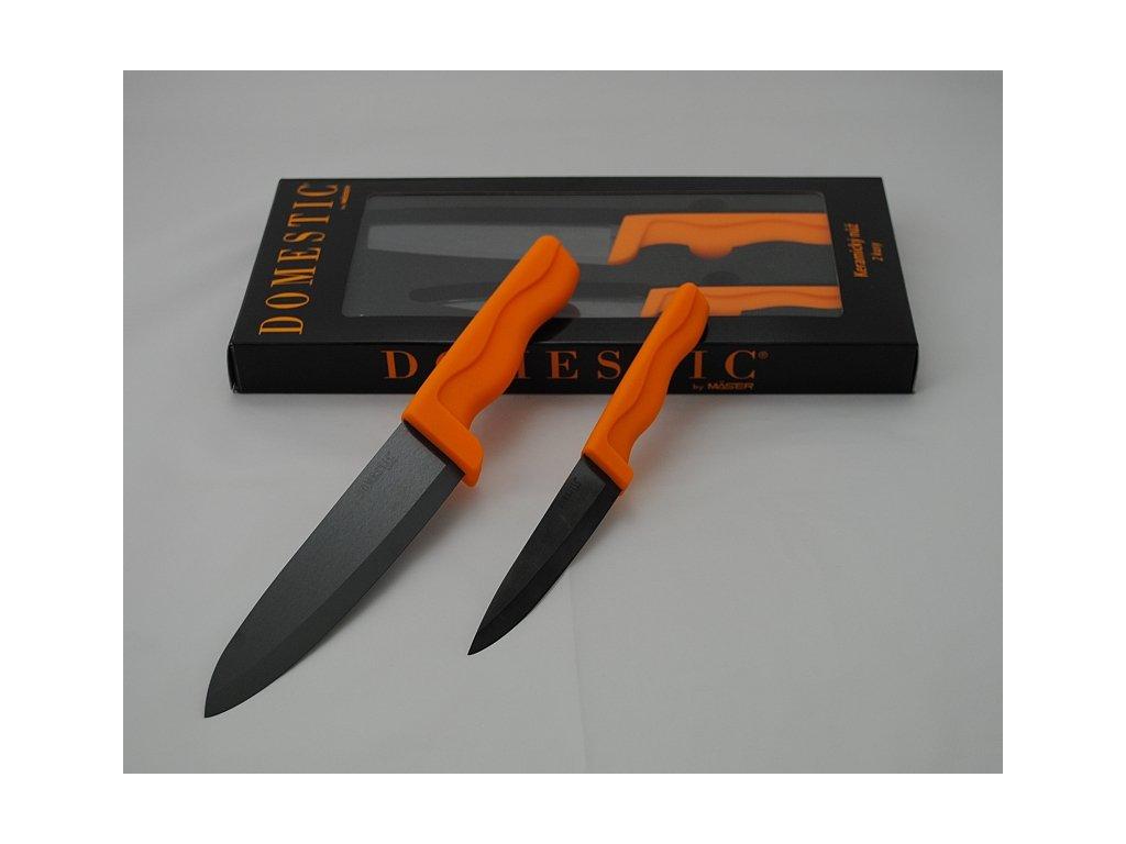 DOMESTIC BL ORANGE Souprava keramických nožů 2 ks