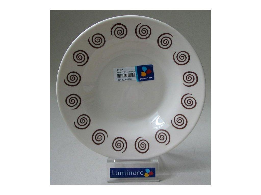 SIROCO Talíř hluboký 23 cm dekor