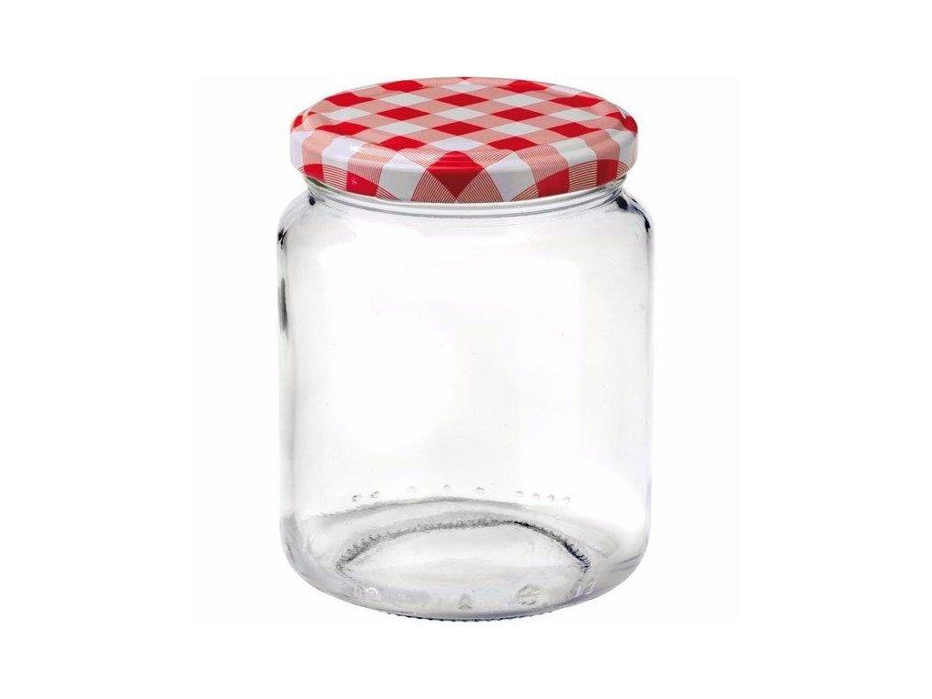 ZAVAŘOVACÍ sklenice s káro víčkem 37 cl