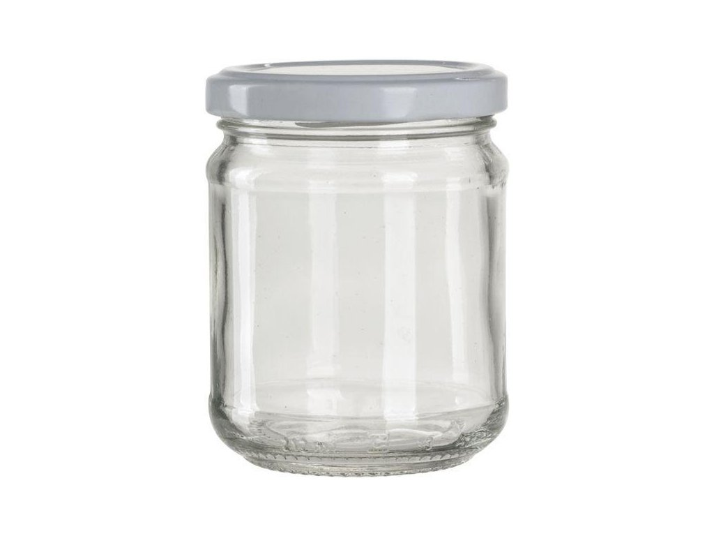 ZAVAŘOVACÍ sklenice s bílým víčkem 37 cl