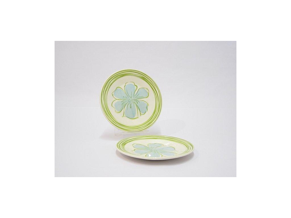 OX Talíř desertní 19 cm zelenomodrý