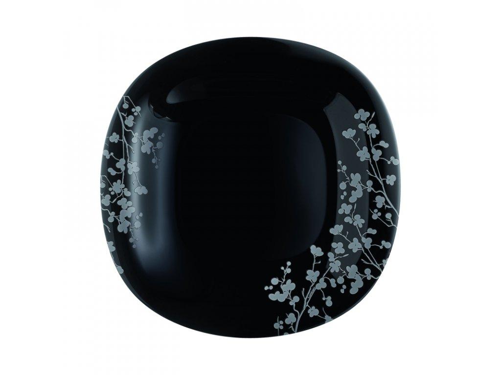 OMBRELLE talíř plochý černý 27 cm