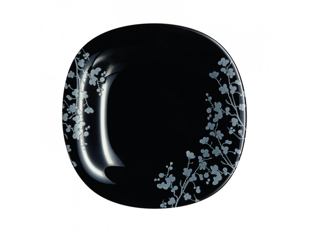 OMBRELLE talíř desertní černý 19 cm