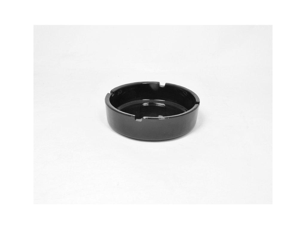 POPELNÍK černý 14.5 cm kulatý