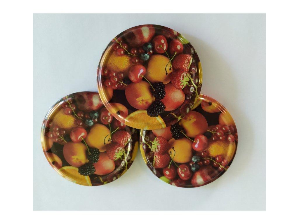 TWIST 82 víčko zavařovací - dekor ovoce