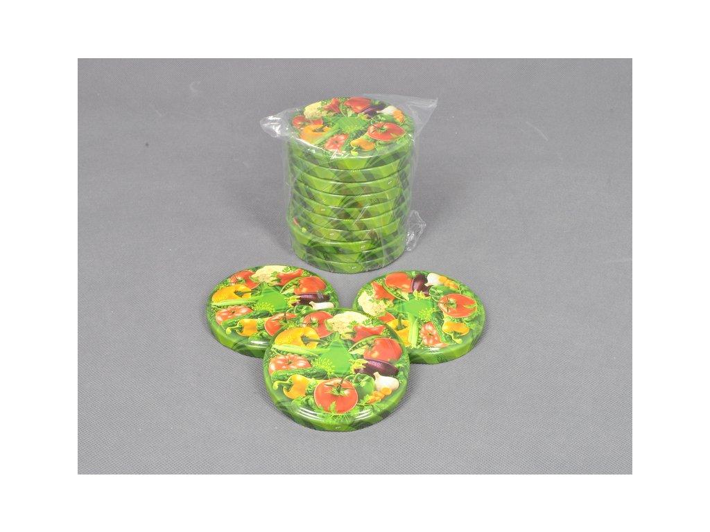 TWIST 82 víčko zavařovací - dekor zelenina