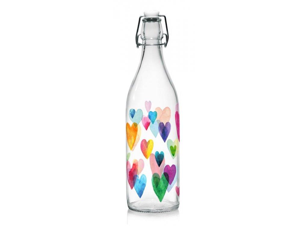 LOVE RAINBOW lahev 1 l s patentním uzávěrem