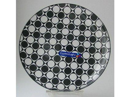 JAZZI Talíř desertní 20 cm černý dekor