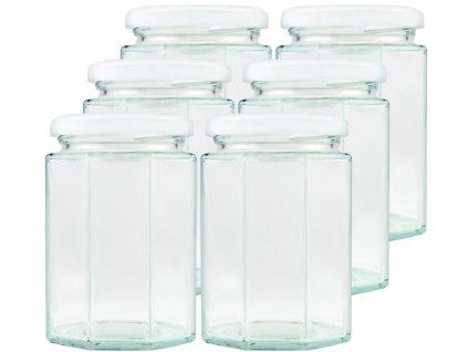 BREECH Zavařovací sklenice 27 cl hranatá s Twist v