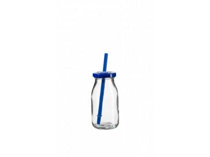 SUMMER FUN II lahev na smoothie 11,5 cm, modré víč