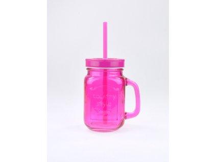 SUMMER FUN II sklenice 45 cl ostře růžová,růžové v