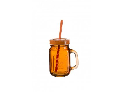SUMMER FUN II sklenice 45 cl tm. oranžová, oranž.v