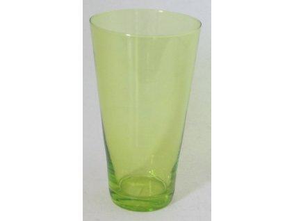 OSTATNÍ Váza kónická kulatá 20 cm zelená