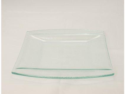 PURA GLASS Talíř desertní 20x21 cm