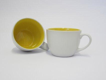 TWO TONE Jumbo hrnek žlutý 49cl