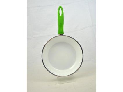 CHIRON Pánev keramická zelená 20 cm, hliník 2.2 mm