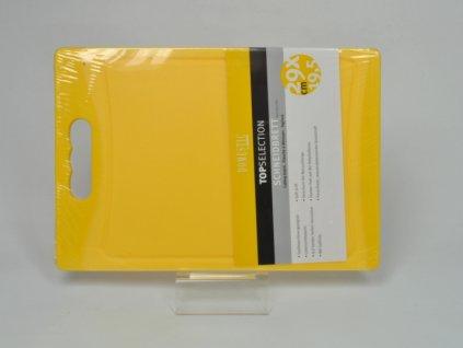 TELESTO Krájecí deska žlutá 29 x 19.5 cm