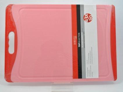 TELESTO Krájecí deska červená 43 x 30 cm
