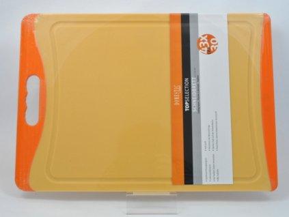 TELESTO Krájecí deska oranžová 43 x 30 cm