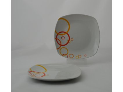 ADENA Talíř desertní 19 cm dekor
