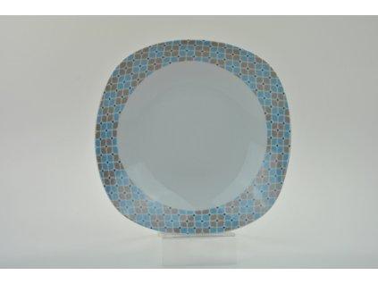 ABIETA Talíř hluboký 21,5 cm dekor