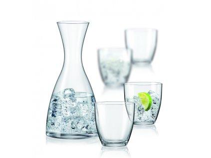 WATER SET 5 dílů - 1x karafa, 4x odlivka