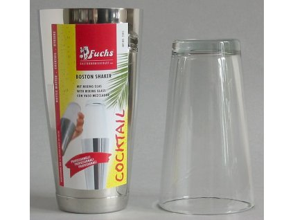 COCKTAIL BOSTON SHAKER-nerez+sklo 800 ml