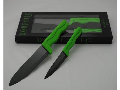 DOMESTIC BL GREEN Souprava keramických nožů 2 ks č