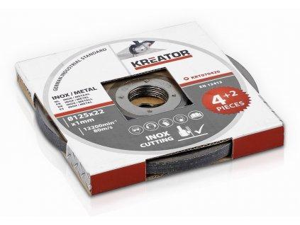 Řezný kotouč Nerez/Ocel  125 x 1,0mm 4 plus 2 (6ks)