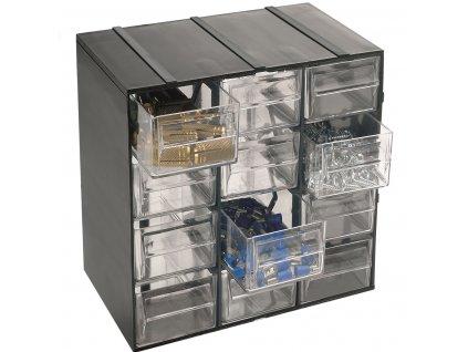 Organizér Hobby 12 - 12 výsuvných boxů - rozměr 190x142x228 mm