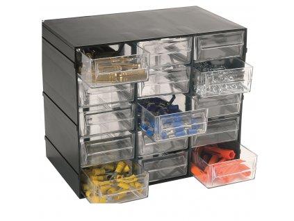 Organizér Hobby 15 - 15 výsuvných boxů - rozměr 228x140x190 mm