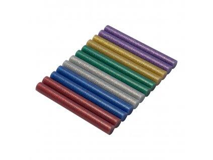 Tavné patrony 11mm, barevné s třpytkami - 12 ks