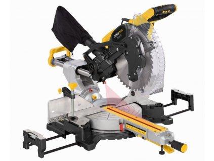 POWX075750DB - Pokosová pila s potahem a oboustranným náklonem 2 200W / 305mm